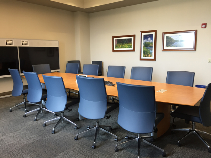 Meeting Room Rentals Oak Creek Library - Blue conference table