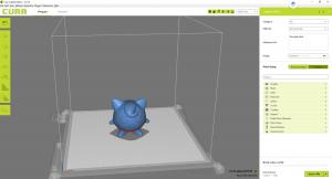Screenshot of the 3D print software Cura