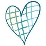 Cross-hatch heart