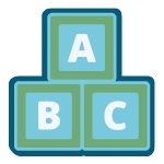 Stack of ABC alphabet blocks