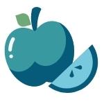 Apple and apple slice