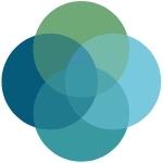 Quadruple Venn Diagram consisting of green, dark blue, teal, and light blue circles