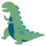 Happy tyrannosaurus