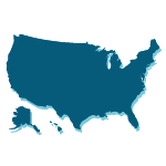 Silhouette of the United States of America