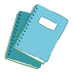 Two spiral-bound notebooks