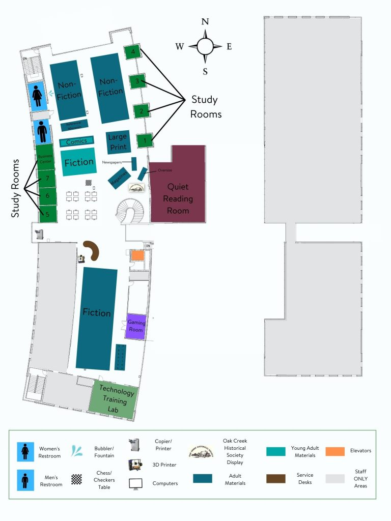 Civic Center map - 2nd floor