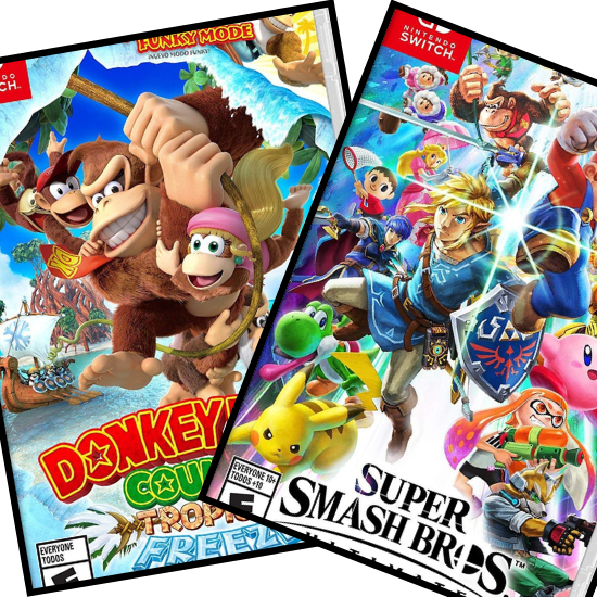 The video games Donkey Kong Country: Tropical Freeze and Super Smash Bros. Ultimate