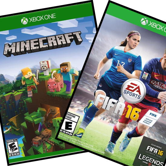 The video games Minecraft and FIFA 16